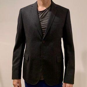 Gucci Men's Suit Sports Coat Blazer Wool Grey 52R